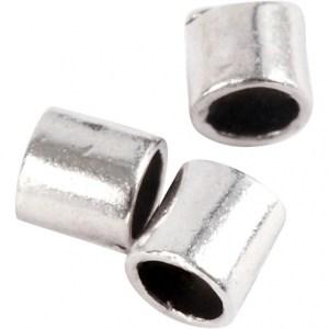 Creotime knijpkralen verzilverd 2 mm 80 stuks