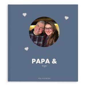 Momenten fotoboek - Papa & ik/wij - XL - Hardcover - 40 pagina's