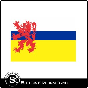 Sticker vlag van Limburg (8x5cm)