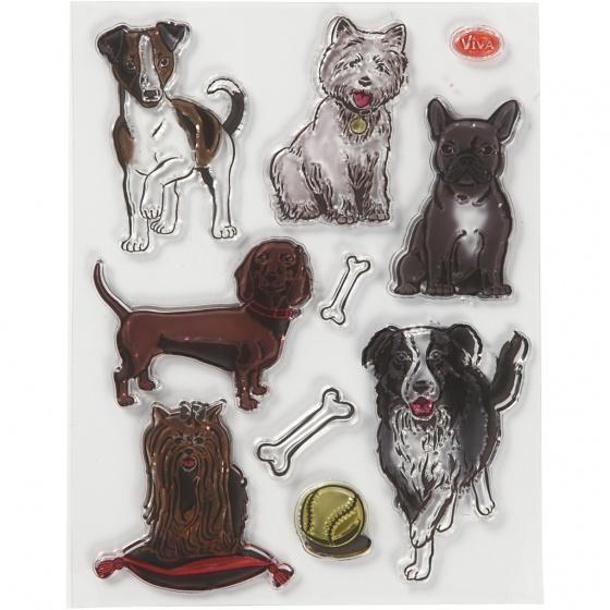 Viva Decor stempels honden siliconen 14 x 18 cm