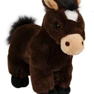Take Me Home knuffel paard junior 24 cm pluche donkerbruin