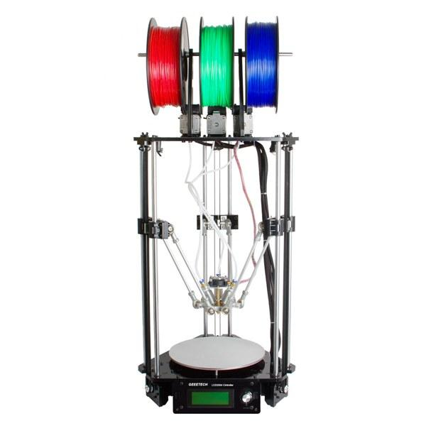 Geeetech® Rostock 301 Mix Color FDM 3D Printer 3-in-1-out Triple-color Printer Kit 1.75mm 0.4mm