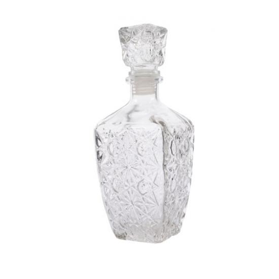 Glazen whisky/water karaf 900 ml/9,5 x 25 cm kristal