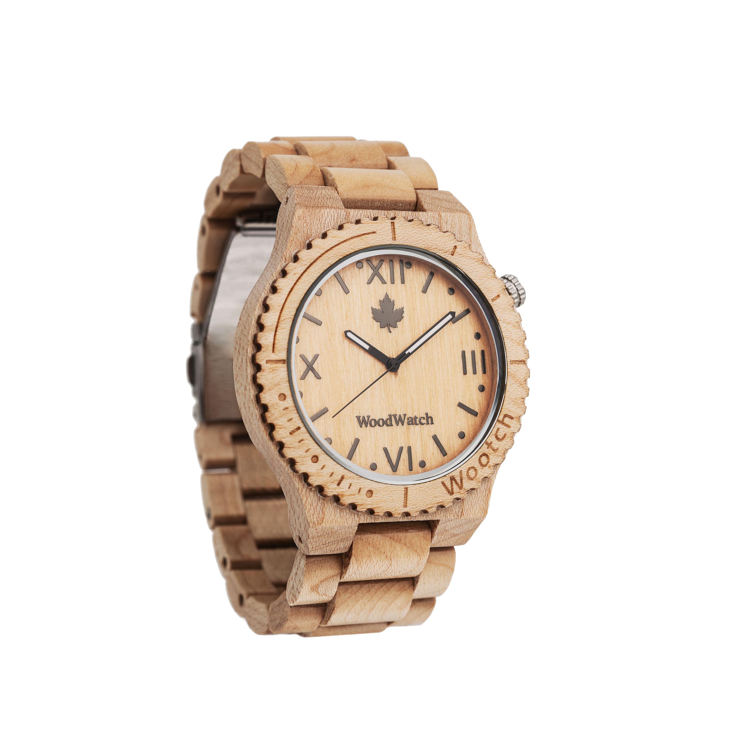 Houten Horloge Wootch Maple