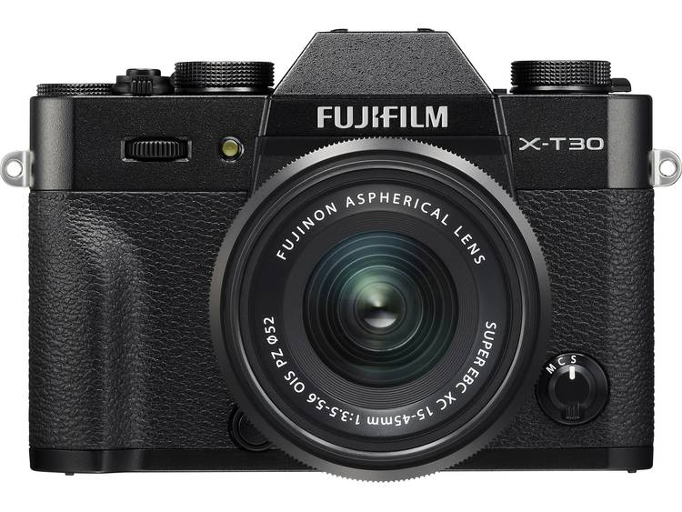 Systeemcamera Fujifilm X-T30 XC 15-45 mm 26.1 Mpix Zwart Touch-screen, Elektronische zoeker, Klapbaar display, WiFi, Flitsschoen, Bluetooth