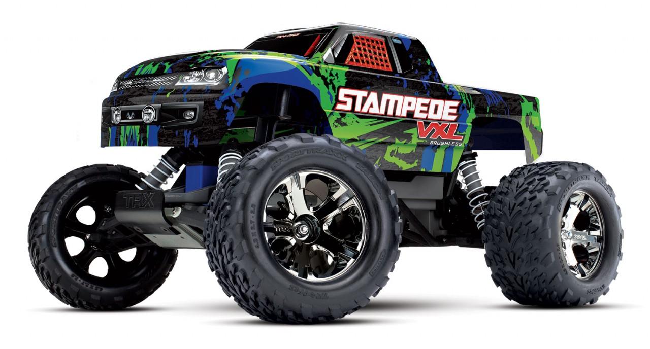 Traxxas Stampede VXL brushless monster truck RTR - TSM - Groen (zonder accu & lader)