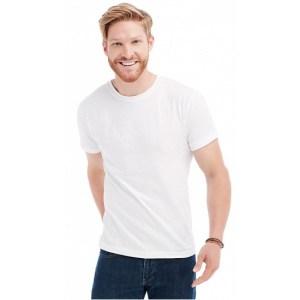 Herenkleding wit t-shirt ronde hals