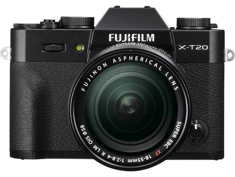 Systeemcamera Fujifilm X-T20 Incl. XF 18-55 mm 24.3 Mpix Zwart 4K Video, Full-HD video-opname, Elektronische zoeker, WiFi