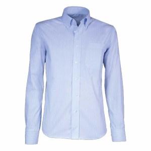 Kleding Heren overhemd gestreept lichtblauw