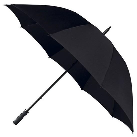 Stormparaplu zwart 130 cm