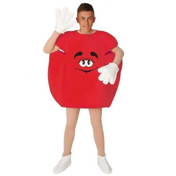 Verkleedkleding Rood snoep kostuum