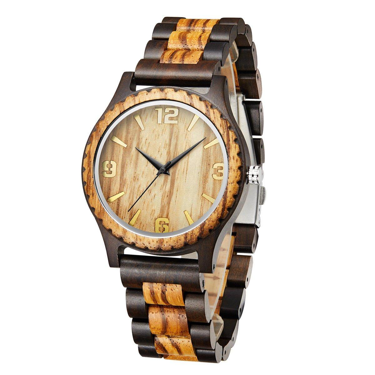 Mode houten horloge eenvoudige wijzerplaat Herenmode horloge quartz horloge