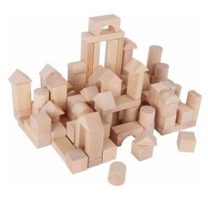 Zak met 200 houten blokken