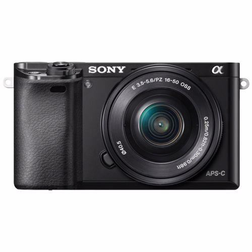 Sony systeemcamera A6000 + 16-50mm lens (Zwart)