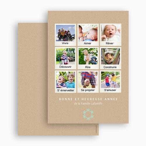 envoyer carte de voeux Carte de vœux multi polaroid