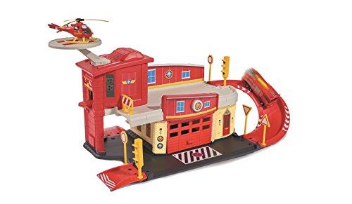 Majorette-203099623038-Sam-le-Pompier-Centre-de-Secours-avec-Hlicoptre-Inclus-0