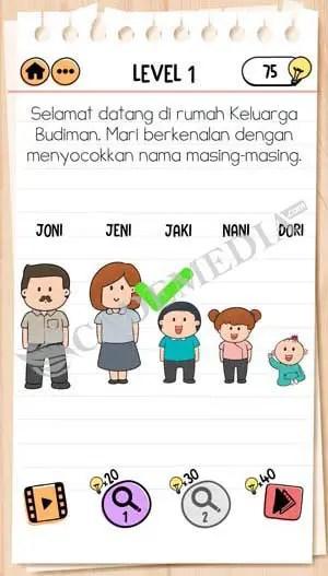 Kunci Brain Test 2 : kunci, brain, Kunci, Jawaban, Brain, Keluarga, Budiman, Level, CadeMedia.com