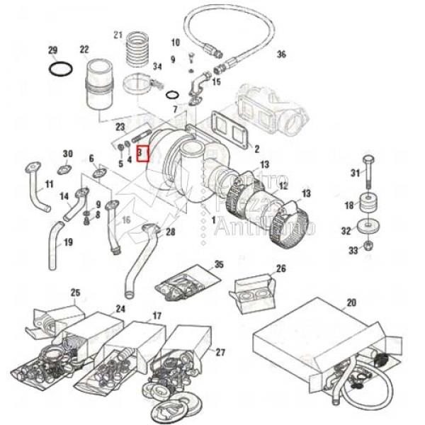 Tornillo Montura Turbo Motor P0045