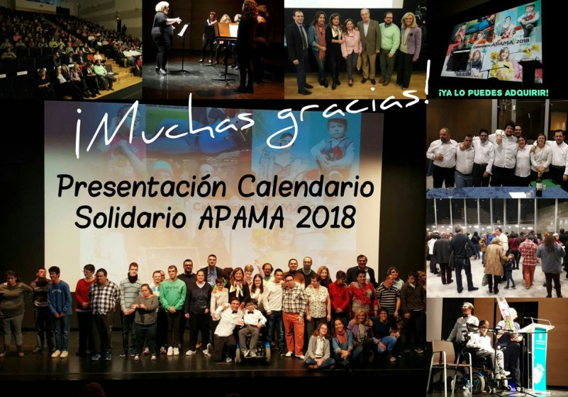 APAMA ya ha presentado su Calendario Solidario 2018 en el Centro de Arte Alcobendas.