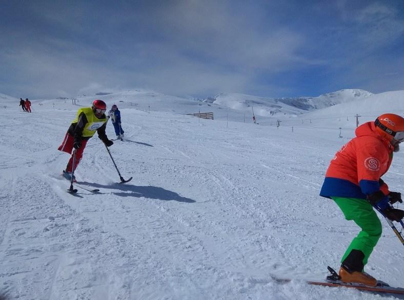 esquí adaptado de la Fundación Deporte y Desafío