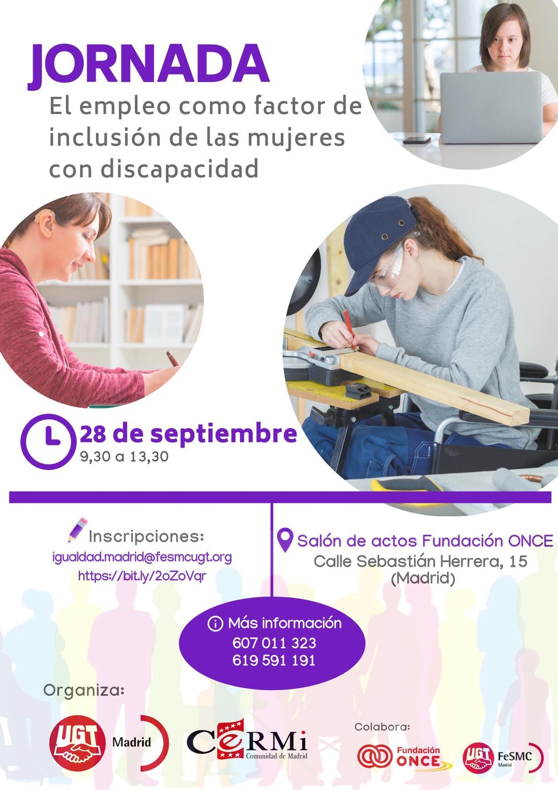 """Jornada """"El empleo como factor de inclusión de las mujeres con discapacidad"""""""