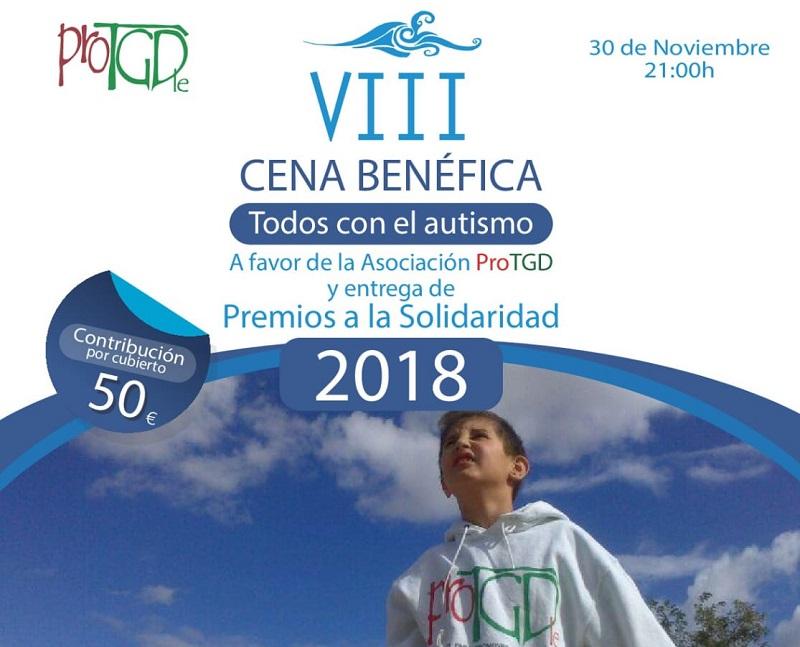 """VIII Cena Benéfica a favor de la Asociacion ProTGD """"Todos con el autismo"""""""