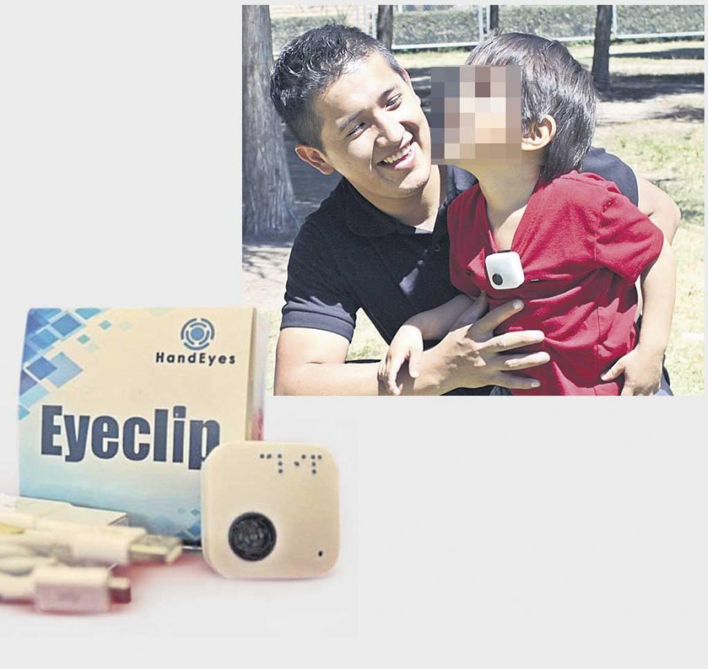 Hand Eyes entrega dispositivos a niños con discapacidad visual