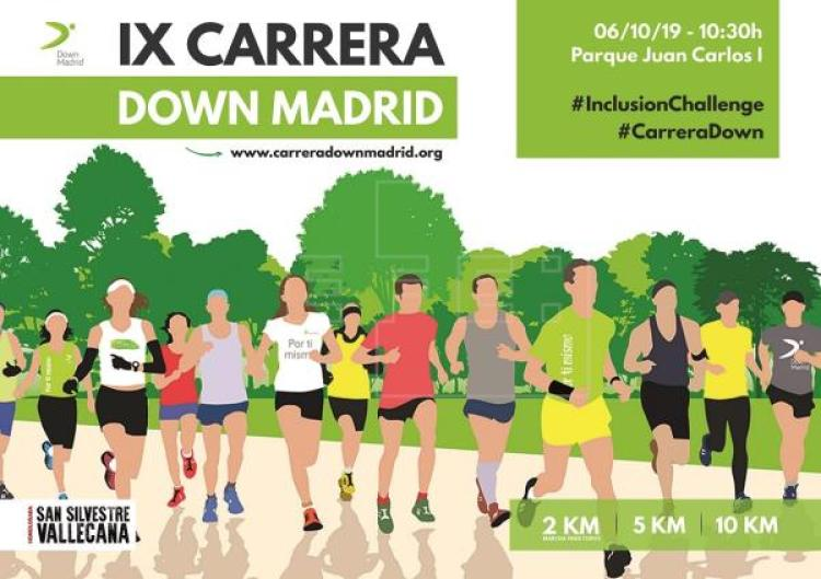 Vicente del Bosque con la 9ª Carrera Solidaria de Down Madrid