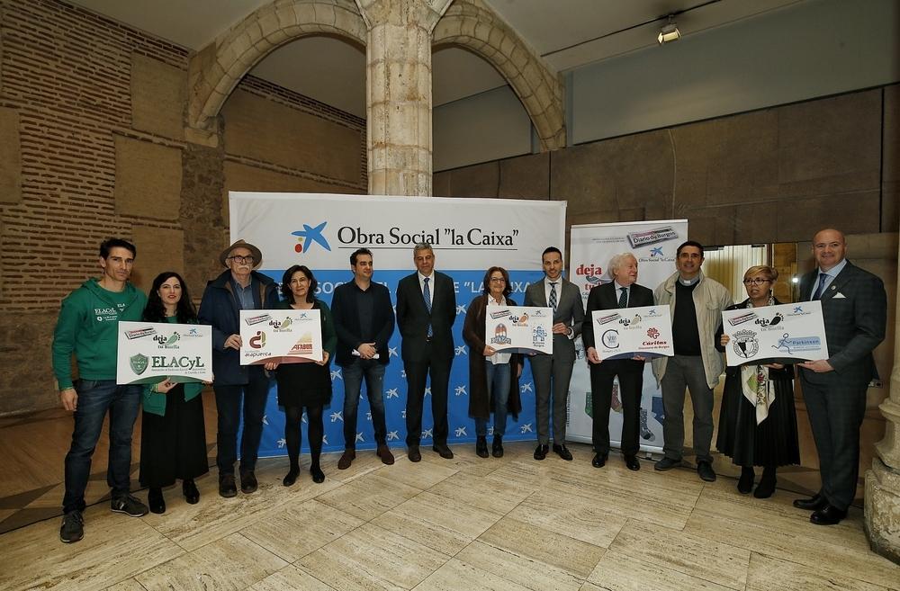 Calcetines solidarios con Diario de Burgos y CaixaBank