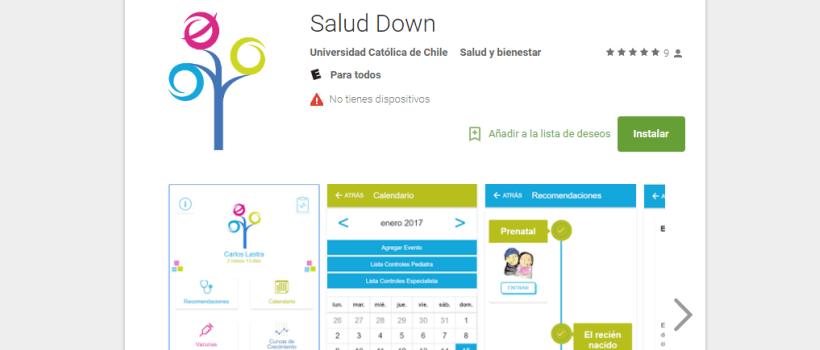 App para el cuidado de la salud en el síndrome de Down