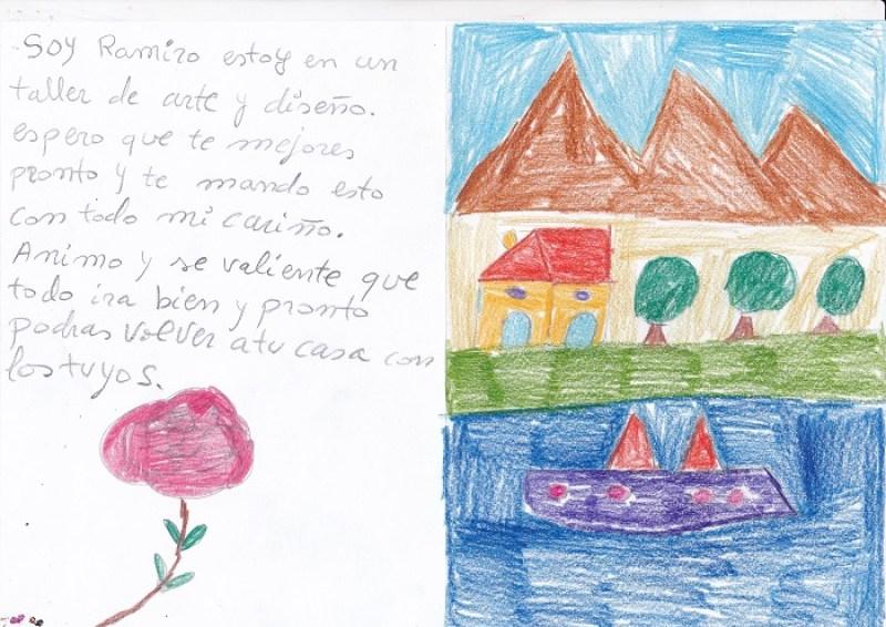 Personas con discapacidad intelectual envían cartas y dibujos a pacientes con coronavirus