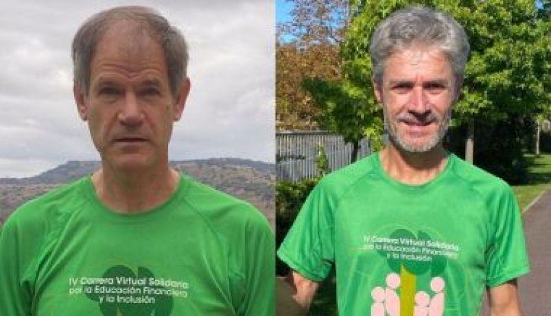 Martin Fiz y Abel Antón en la Carrera 100% Solidaria por la Educación Financiera y la Inclusión