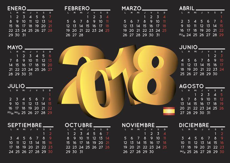Resultado de imagen de calendario laboral 2018 GALICIA