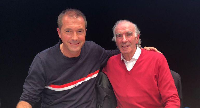 Manu Carreño y José Ángel Iribar, en El Larguero desde Bilbao el pasado mes de marzo