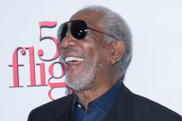 El actor Morgan Freeman durante la presentación de su nueva película.