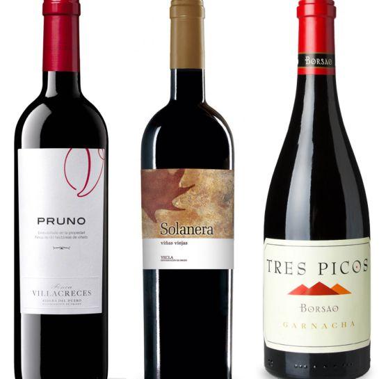 Pruno, Solanera y Tres Picos.