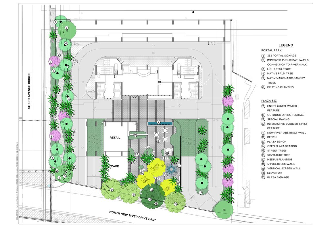 hight resolution of cadence landscape architects riverwalk residences site plan