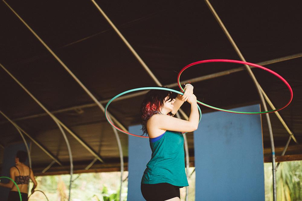 twin hoops class at hawaii hoop retreats