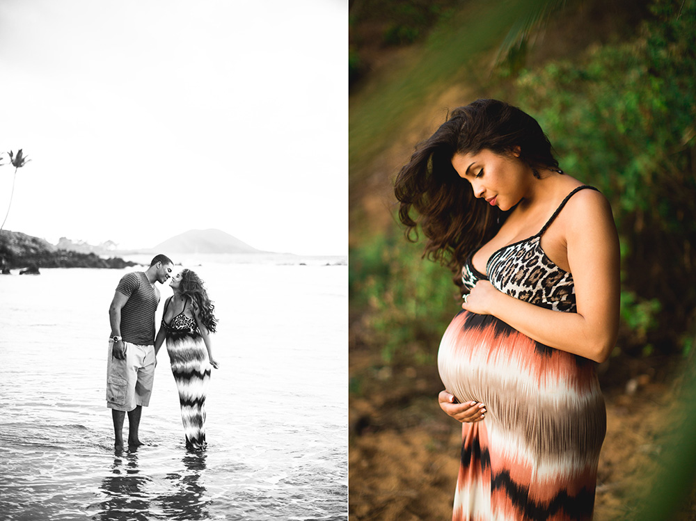 beach maternity photography Maui