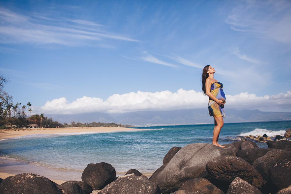 baldwin beach maternity session