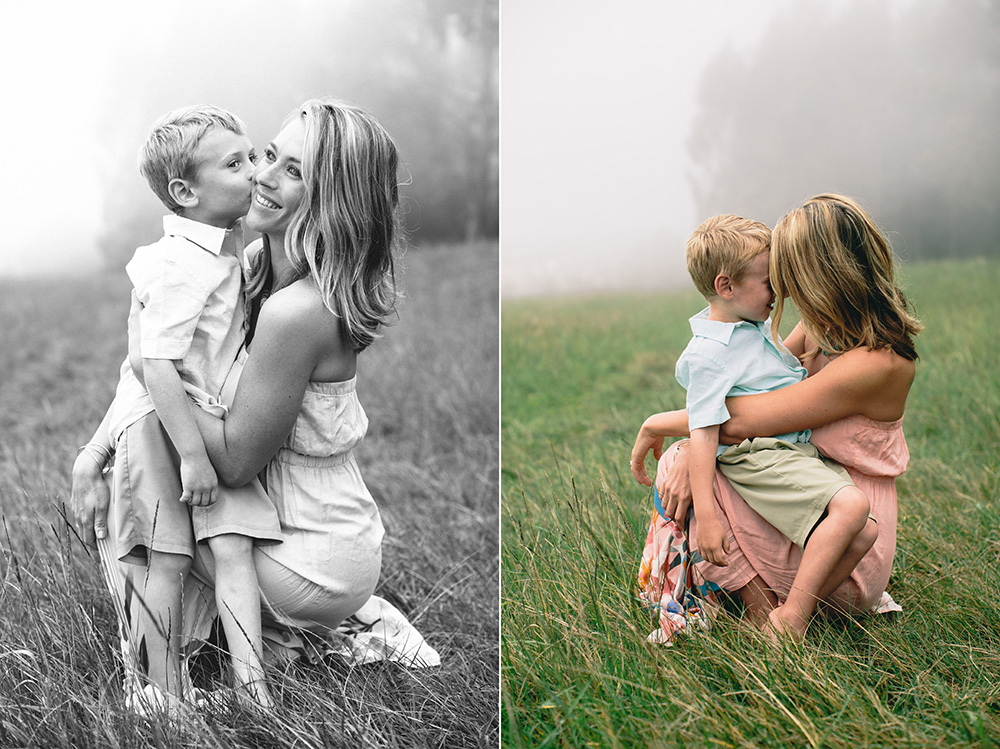 maui's best family photographer cadencia, takes photographs of Jaymie and her Ohana upcountry.