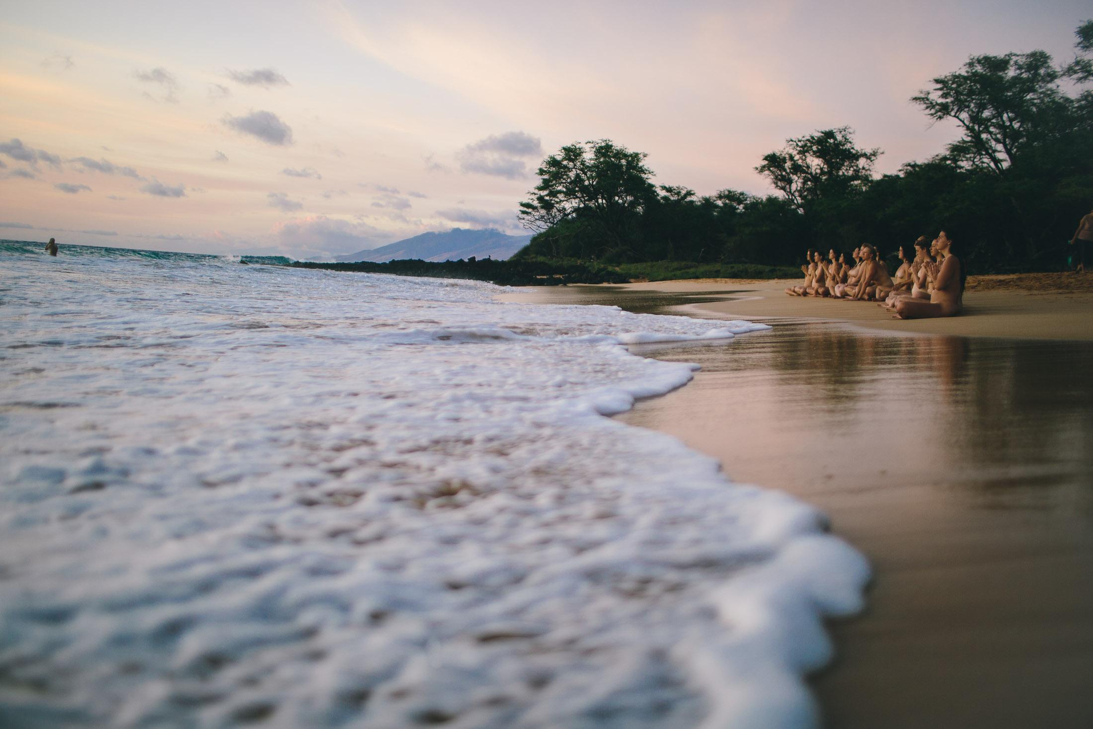 little beach photography during a beautiful sunset
