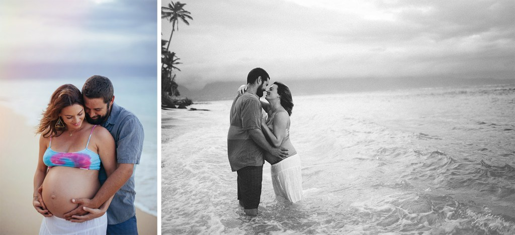 a beach shoot on Maui for hawaii maternity photography.