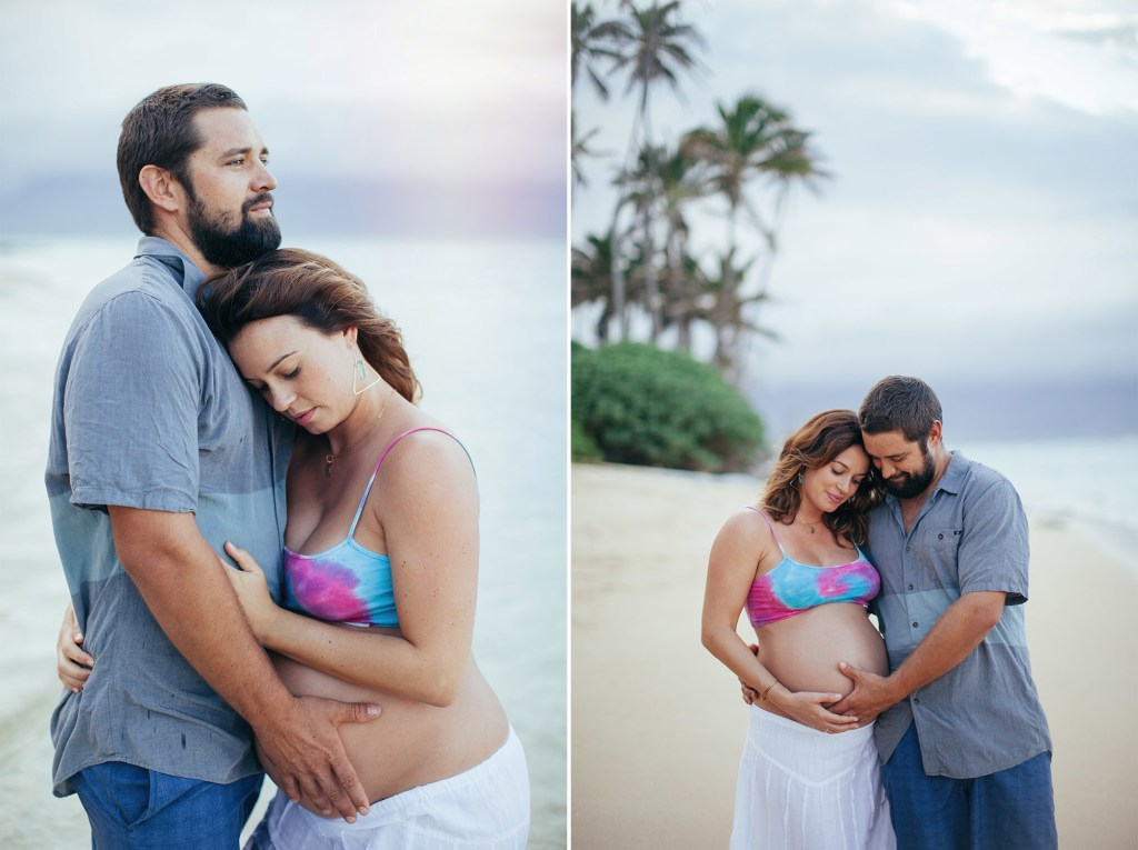 gorgeous maternity photography in paia, hawaii.