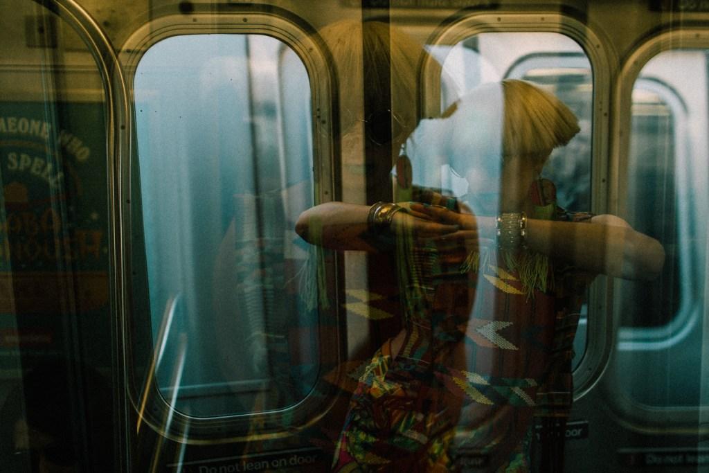 double exposure subway dancer brooklyn.