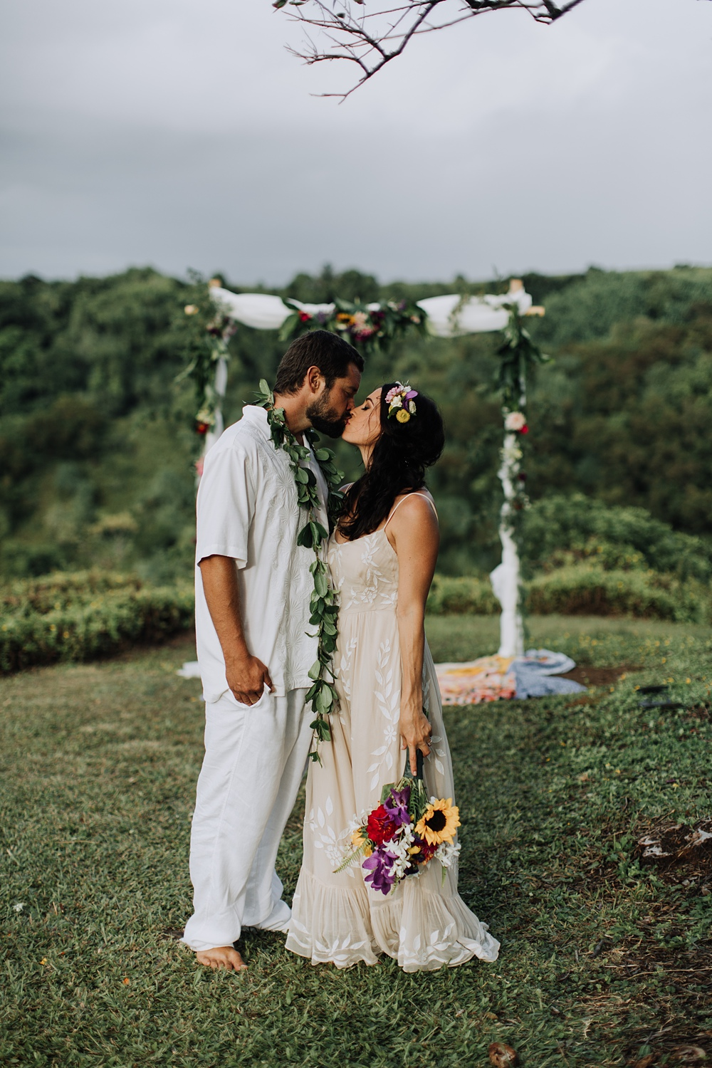 Maui Backyard Wedding Haiku Hawaii Cadencia Photography