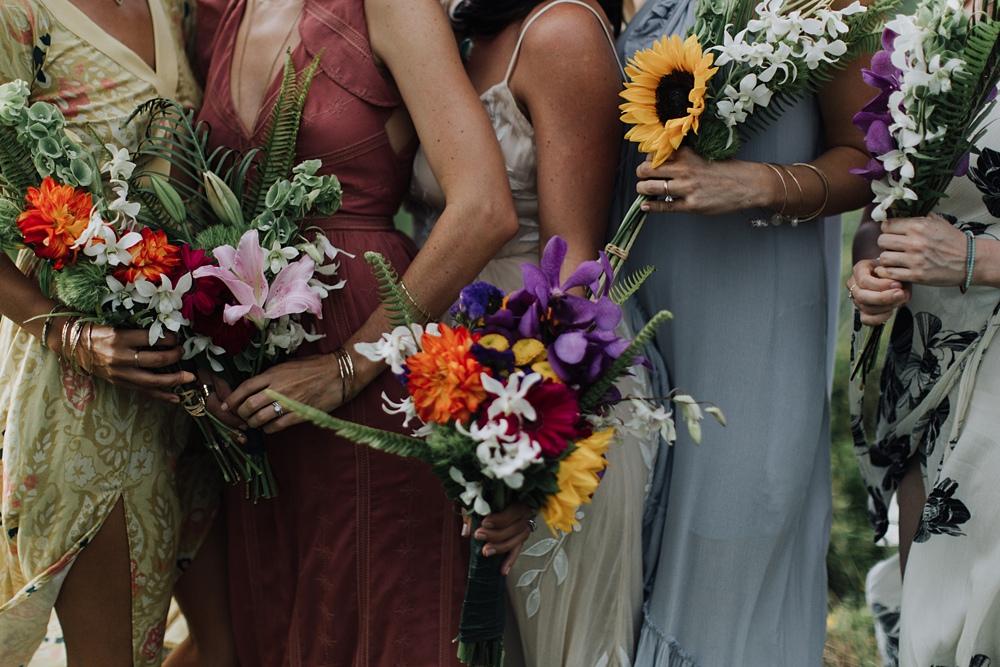 homemade bouquets maui wedding