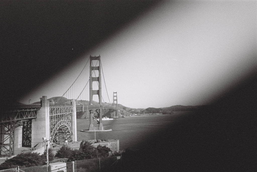 black and white film of SF