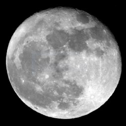 Moon image taken in January