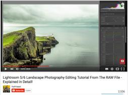 Lightroom RAW Landscape Tutorial - Roughly half edited image